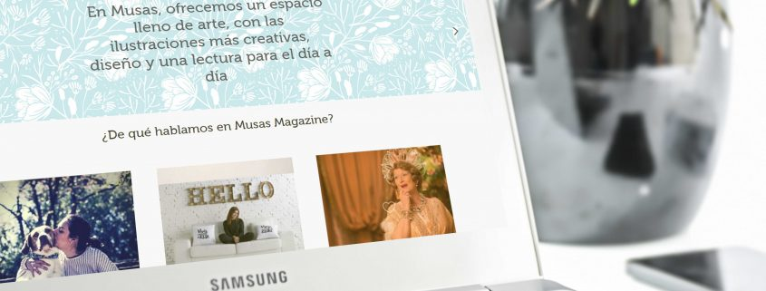 Desarrollo web revista digital Musas Magazine