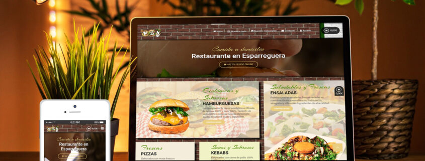 Desarrollo e-commerce restaurante PBK